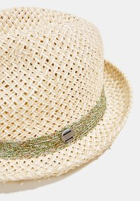 Esprit - TRILBY-HUT MIT TWO-TONE-FLECHTUNG - Hat - off white - 3