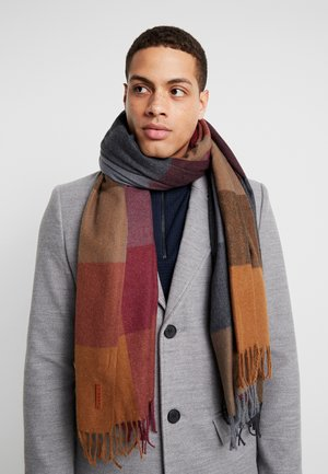 CHECK SCARF - Szal - bordeaux/red