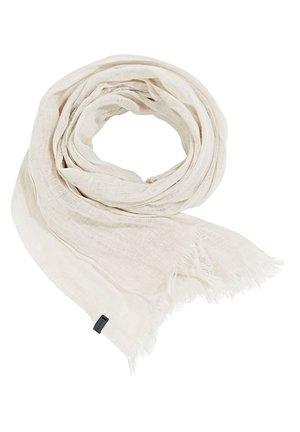 WEBSCHAL AUS 100% LEINEN - Scarf - light beige