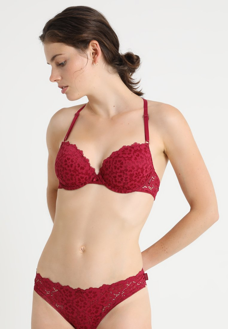 Esprit - AISLIN CLASSIC PADDED - Underwired bra - cherry red