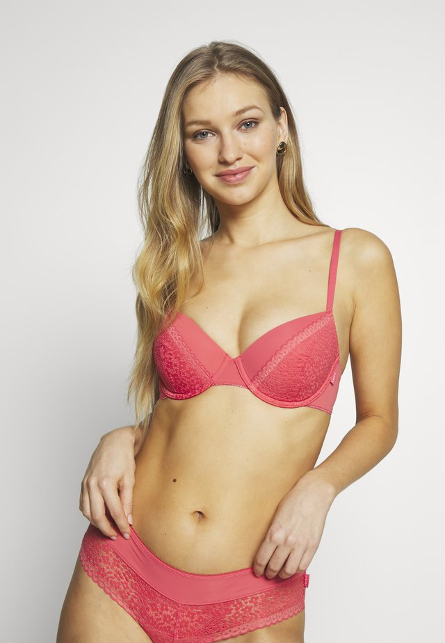 BRUNA - Push up-bh - coral red