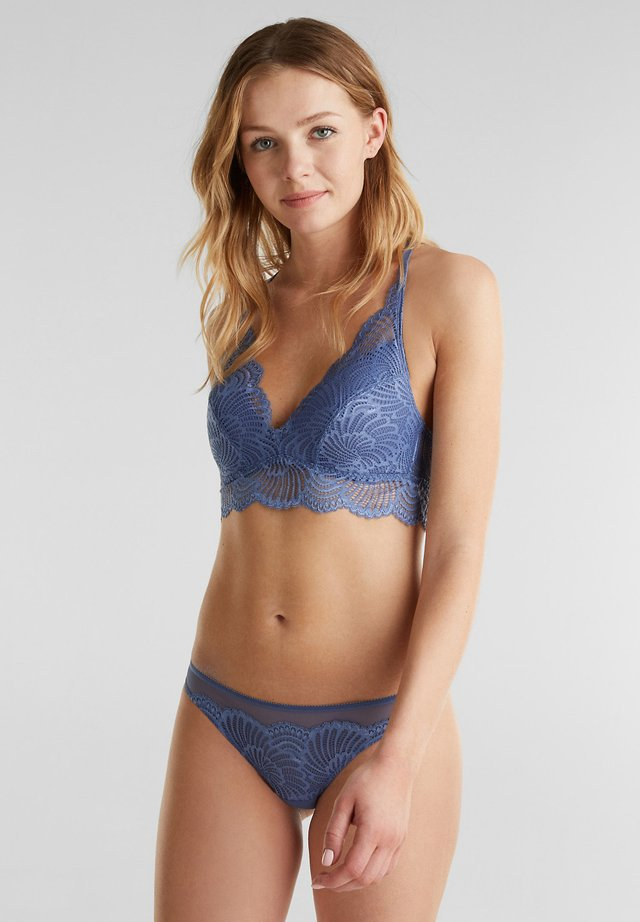 Triangel-bh - blue lavender