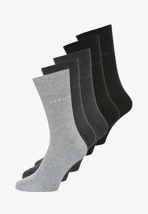 5 PACK - Calcetines - black