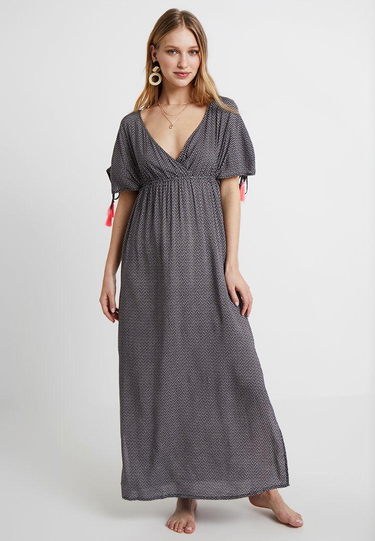 Esprit - EDEN BEACH LONG DRESS - Complementos de playa - navyblack/multi-coloured