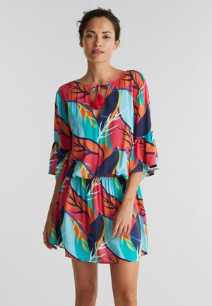 MIT TROPICAL-PRINT - Beach accessory - red orange