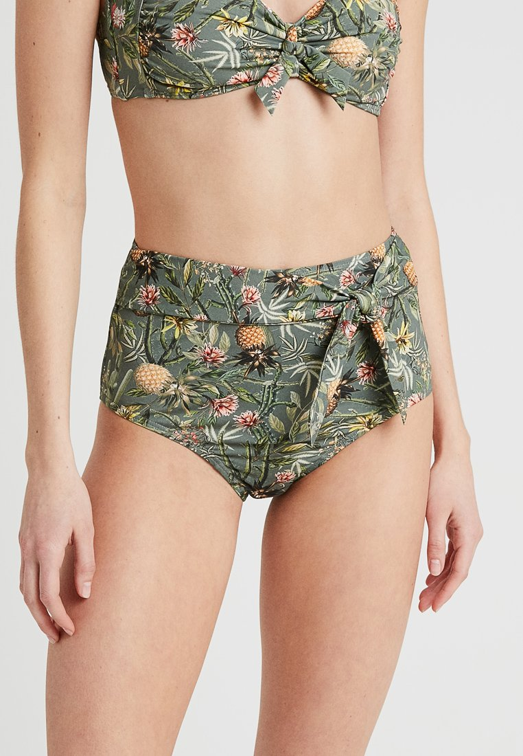 Esprit - BAHIA BEACH HIGHWAIST BRIEF - Bikini bottoms - light khaki