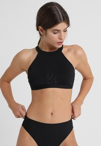 Esprit - OCEAN BEACH PADDED HIGH NECK - Bikinitop - black - 0