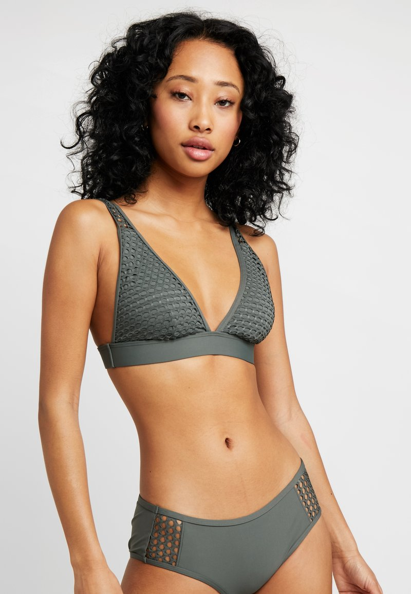 Esprit - CERRO BEACH BEACH WIRELESS - Bikini top - khaki green