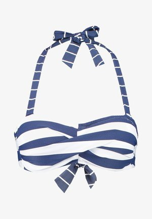 NORTH BEACH PADDED BANDEAU - Bikini top - dark blue