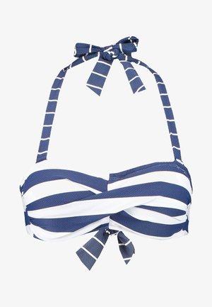NORTH BEACH PADDED BANDEAU - Bikinitop - dark blue