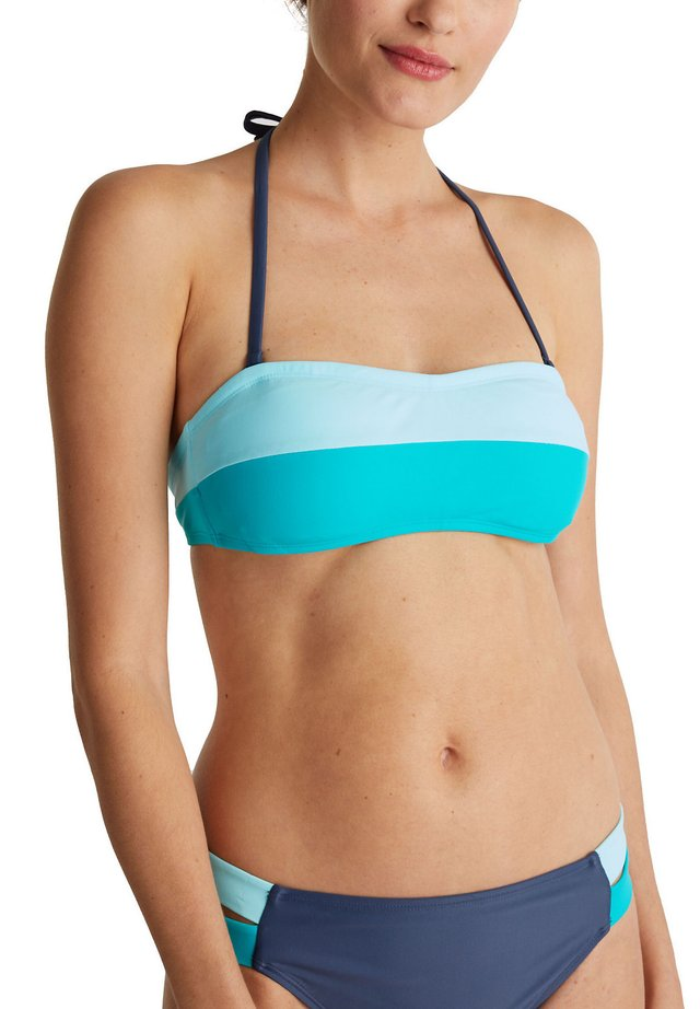 MIT ABNEHMBAREM NECKHOLDER - Bikiniöverdel - turquoise
