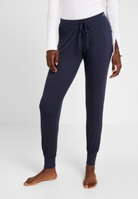 Esprit - JAYLA SINGLE PANTS SOLID - Pyjamabroek - navy - 0
