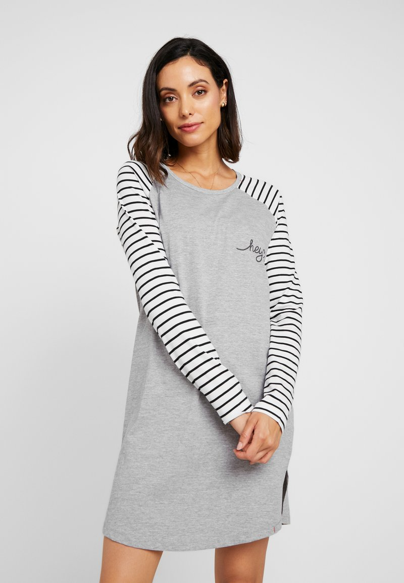 Esprit - ELSKE NIGHTSHIRT - Negligé - light grey