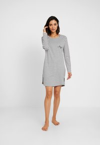 Esprit - ELSKE NIGHTSHIRT - Negligé - light grey - 1