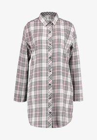 Esprit - FILIPA NIGHTSHIRT CHECK - Noční košile - off white - 4