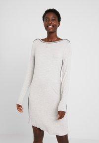 Esprit - JAYLA NIGHTSHIRT MELANGE  - Nattskjorte - light grey - 0
