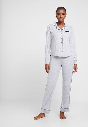 KAIH SOLID SET - Pyjama - medium grey