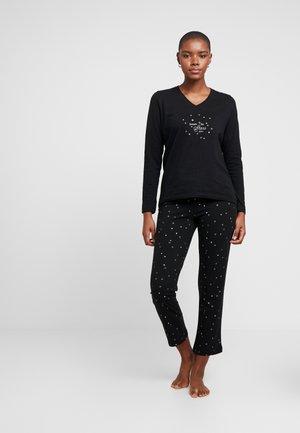 KIKU SOLID LEG WITH SOCKS SET - Pyjama set - black