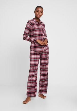 KELA CAS - Pyžamová sada - dark red