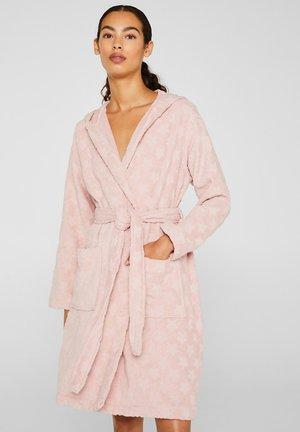 MIT STERN-INTARSIE - Badjas - light pink