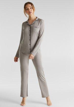 MIT GRAFIK-PRINT - Pyjama - light taupe