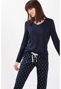Esprit - SINGLE SHIRT - Pyjama top - dark blue - 0
