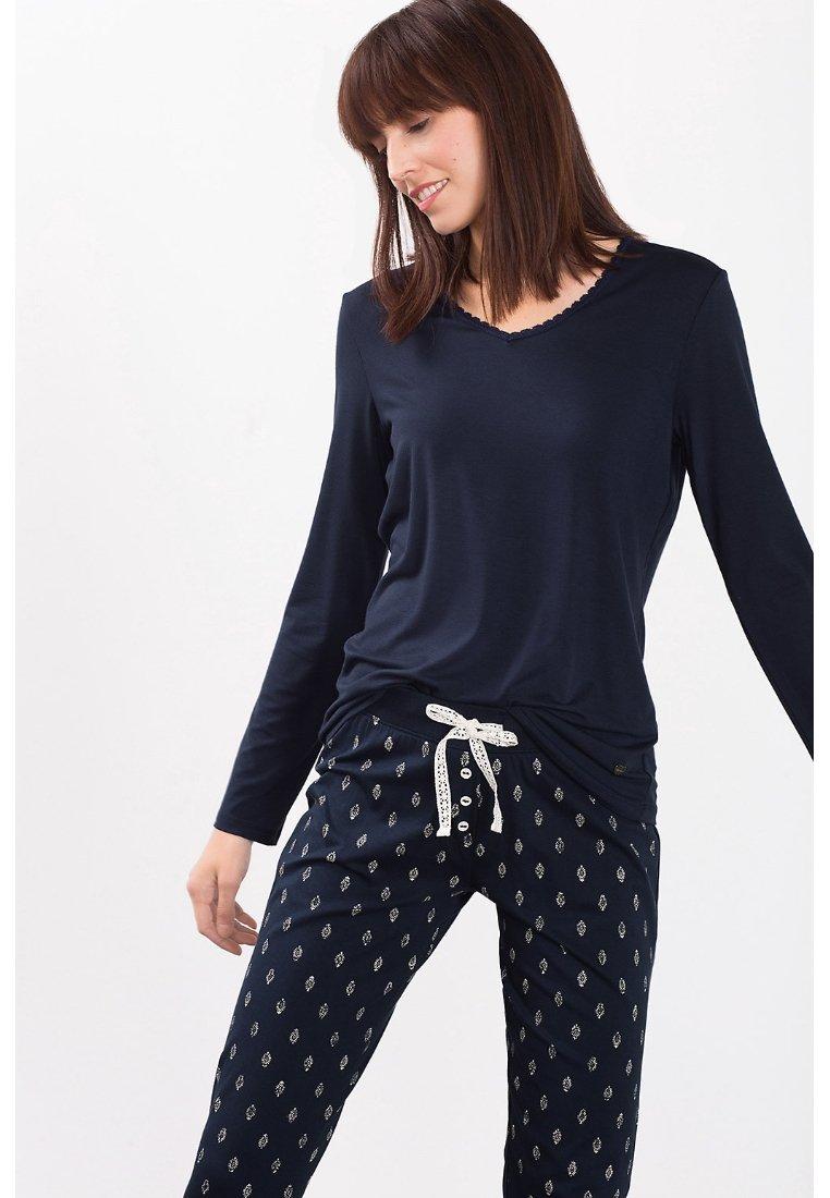 Esprit - SINGLE SHIRT - Pyjama top - dark blue