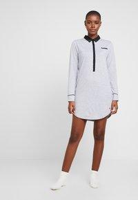 Esprit - KAIH NIGHTSHIRT SOLID - Noční košile - medium grey - 1