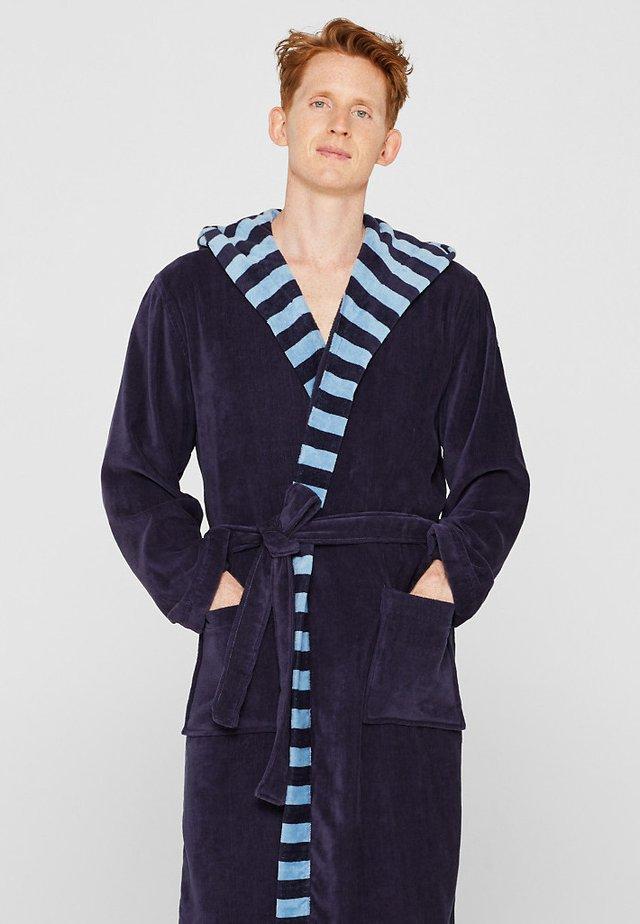 MIT STREIFEN - Peignoir - navy blue