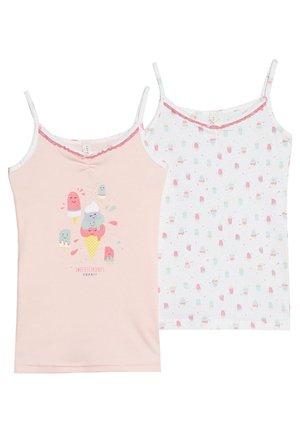 SPAGHETTI TOP 2 PACK - Undershirt - pastel pink
