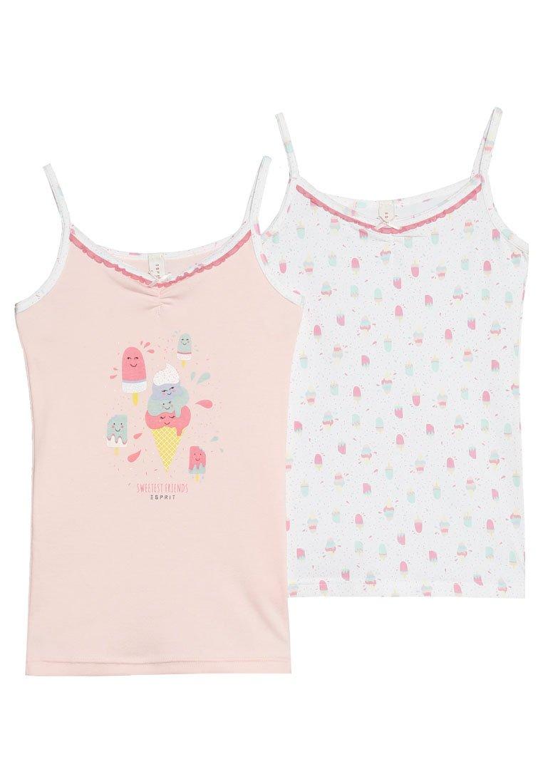 Esprit - SPAGHETTI TOP 2 PACK - Unterhemd/-shirt - pastel pink