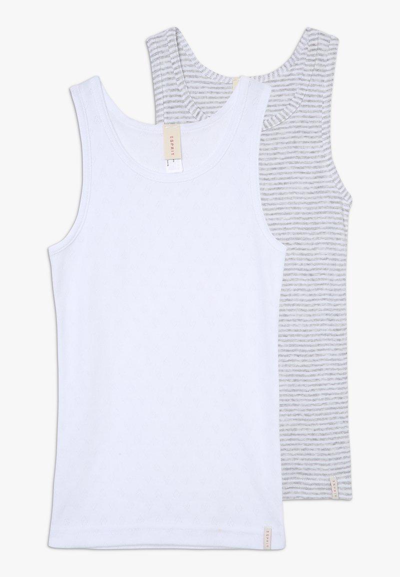 Esprit - GIRLIE MIX TANK 2 PACK - Undershirt - light grey