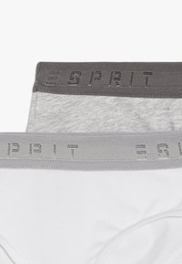 Esprit - SPORTY LOGO TAPE HIP SHORTS 2 PACK - Briefs - white - 4