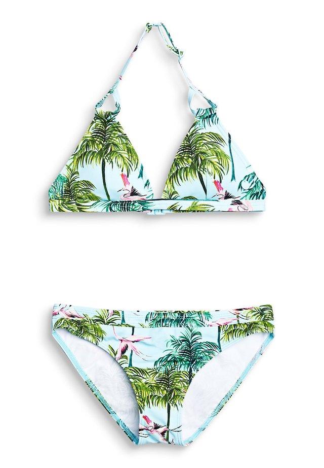 NECHOLDER-BIKINI-SET MIT LEICHTER WATTIERUNG - Bikini - turquoise