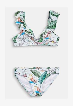 MIT VOLANTS - Bikini - light aqua green