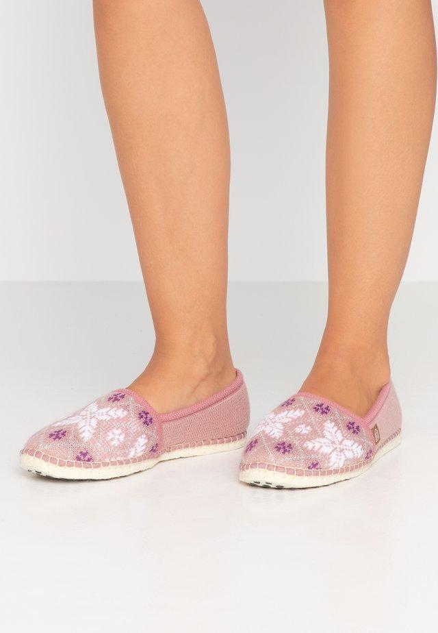 PANTOUFLE CLASSIC NEIGE - Domácí obuv - rose