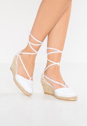 PYRENEES - Platform heels - blanc
