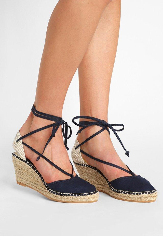 PYRENEES - Platform heels - marine