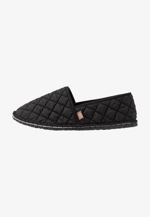 PANTOUFLE CLASSIC QUILT MEN - Slippers - noir