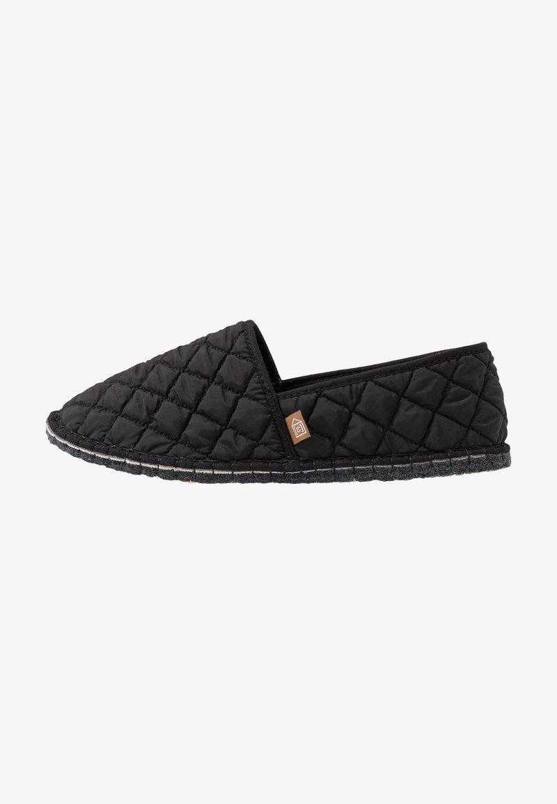 Espadrij l´originale - PANTOUFLE CLASSIC QUILT MEN - Slippers - noir
