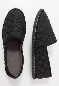 Espadrij l´originale - PANTOUFLE CLASSIC QUILT MEN - Slippers - noir - 1