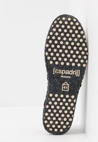 Espadrij l´originale - PANTOUFLE CLASSIC QUILT MEN - Slippers - noir - 4