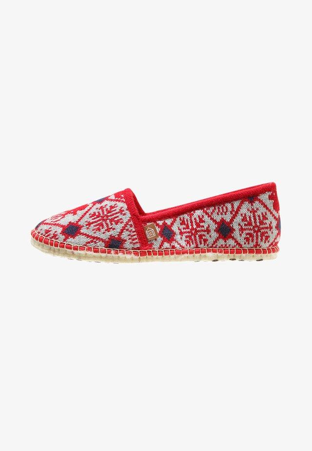 PANTOUFLE DEER - Slippers - rouge