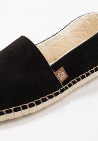 Espadrij l´originale - PANTOUFLE CLASSIC VEGAN - Slippers - noir - 5