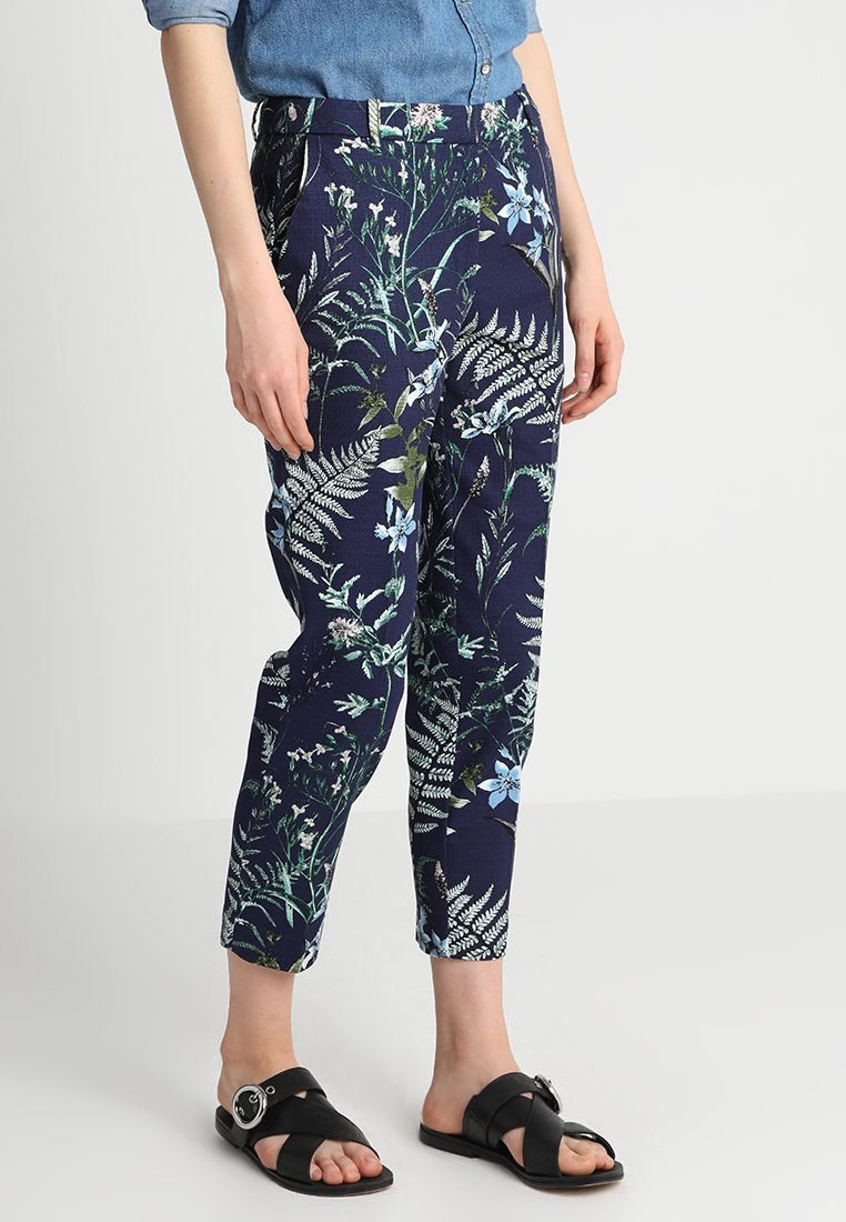 Esprit Collection - STRUCTURE NEWPORT  - Stoffhose - navy
