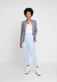 Esprit Collection - FLARED PANT - Spodnie materiałowe - light blue - 2