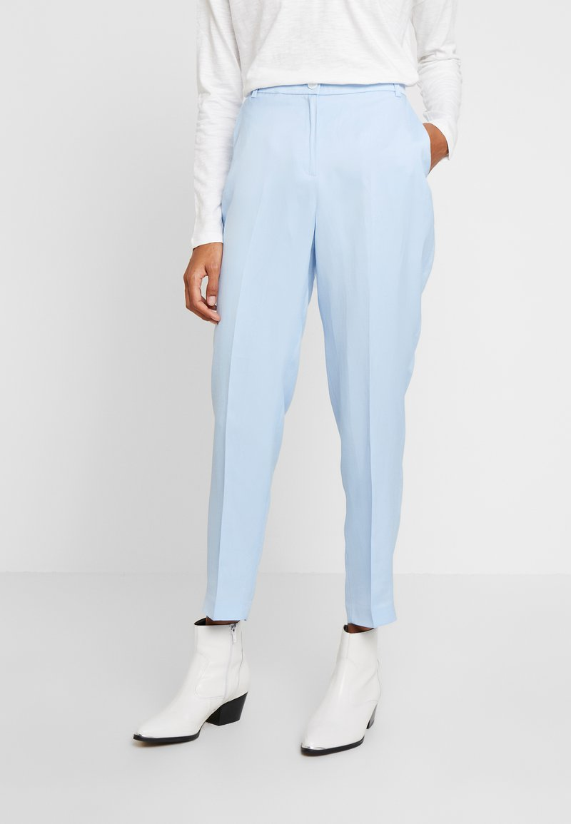 Esprit Collection - FLARED PANT - Spodnie materiałowe - light blue