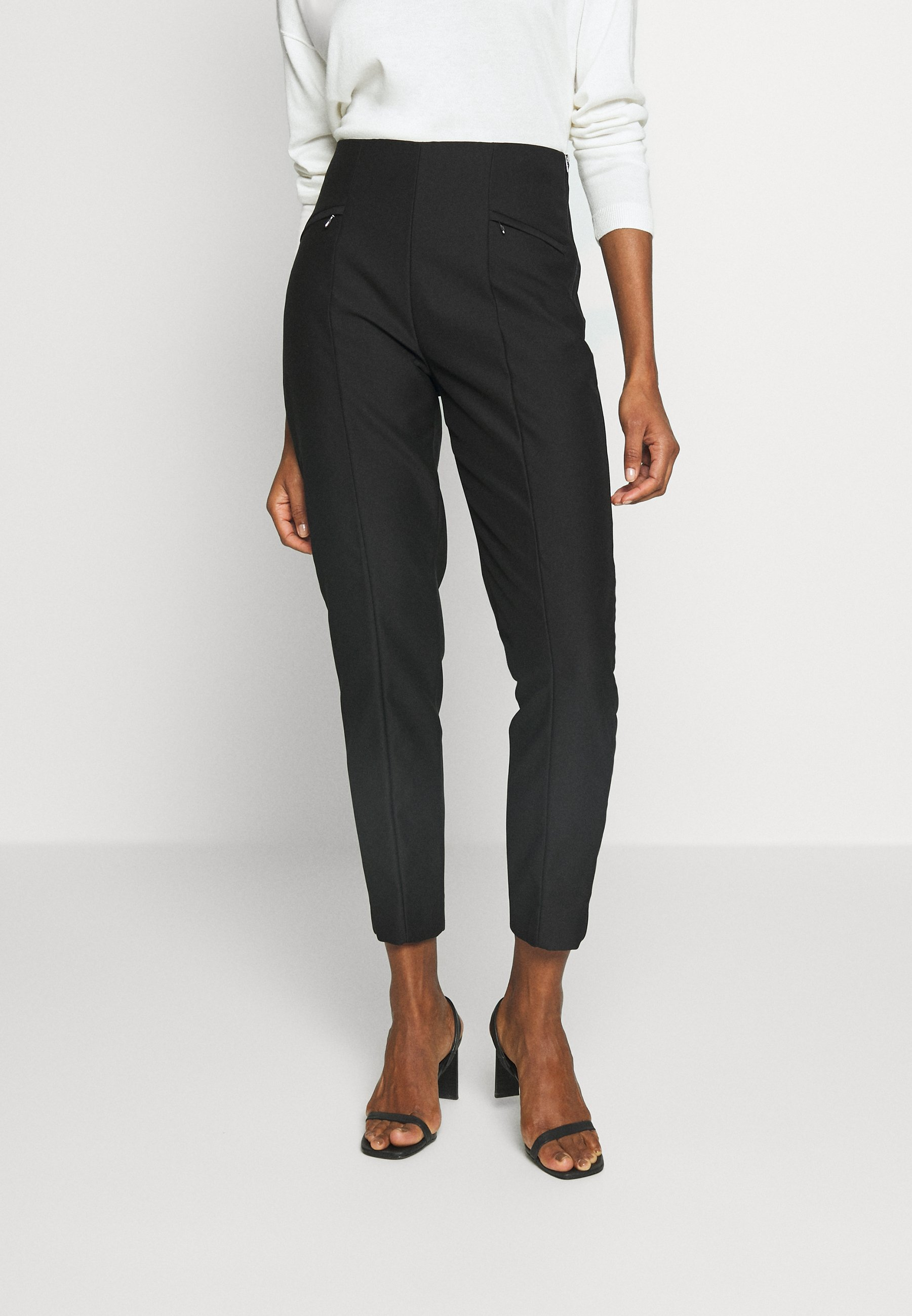 Esprit Collection SLIM FIT - Spodnie materiałowe - black