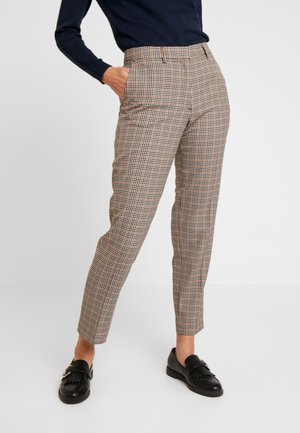 ZIPPED CHECK - Trousers - camel