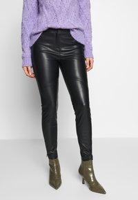 Esprit Collection - PLEATHER - Stoffhose - black - 0